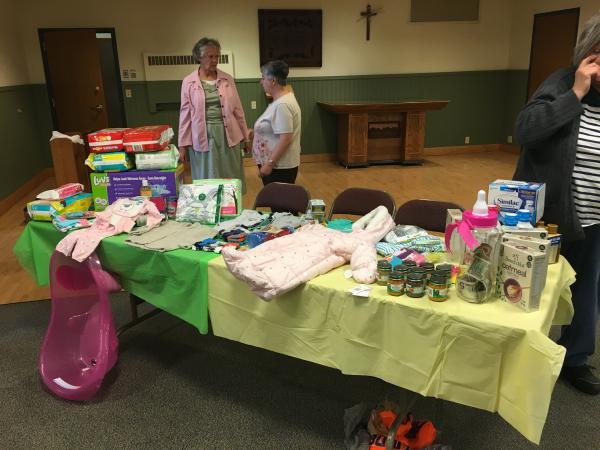 Court St. Augustine had a baby shower for its spiritually adopted child, Michael Francis with all gifts going to CareNet.